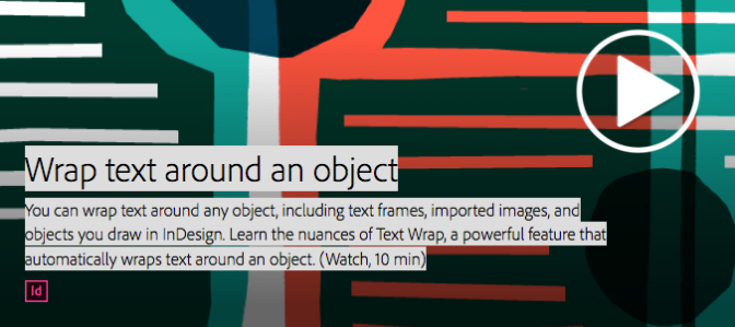 Wrap text around an object | Adobe InDesign CC tutorials