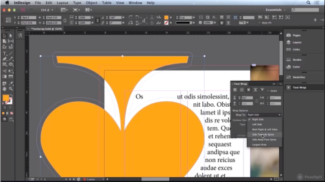 Adobe InDesign - Text Wrap
