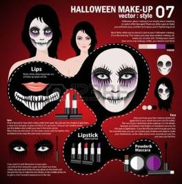 45983008-infographic-halloween-make-up-woman-in-day-of-the-dead-mask-face-art-halloween-face-art-with-cosmeti