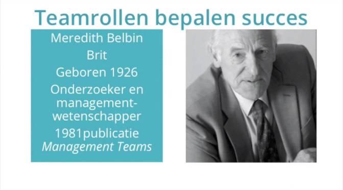 Teamrollen van Belbin